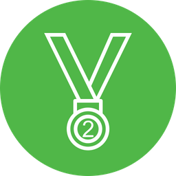 Medal, Position, Trophy, Winner, Silver, Award, Second Icon