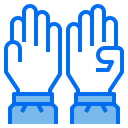 Medical Gloves Colored Outline Icon