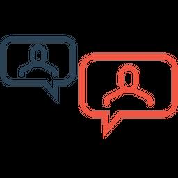 Men, Employee, Message, Conversation, Chatting, Talking, Bubble Icon