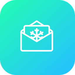 Message, Email, Invitation, Letter, Christmas, Xmas, Snowflake Icon