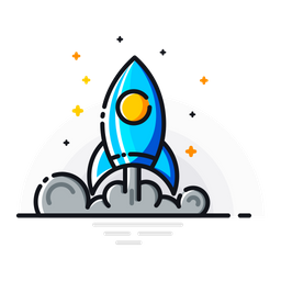 Mission, Promotion, Rocket, Space, Fly, Start, Spaceship Icon