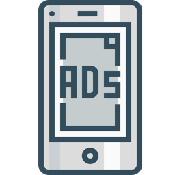 Mobile, Ads, Advertising, Commercial, Marketing, Popup, Centertopage, Fullscreen Icon