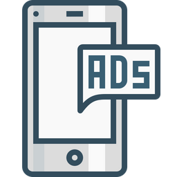 Mobile, Ads, Advertising, Commercial, Marketing, Popup, Chatad Icon
