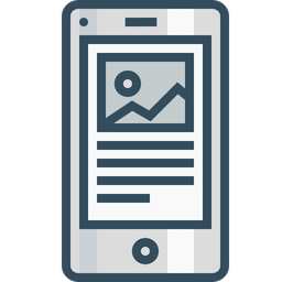 Mobile, Browser, Page, Photo, Right, Layout, Content, Blog, Wireframe Icon