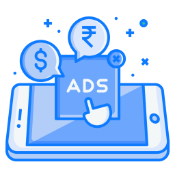 Mobile, Concept, Ads, Advertise, Touch, Pay, Per, Click Icon