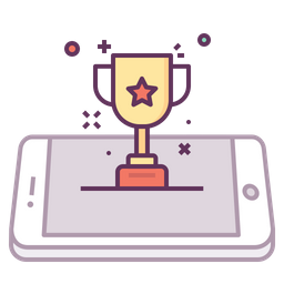 Mobile, Concept, Award, Prize, Trophy, Star, Medal Icon