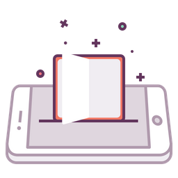 Mobile, Concept, Book, Study, Education, Books Icon