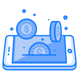 Mobile, Concept, Coin, Dollar, Currency, Money, Finance Icon png