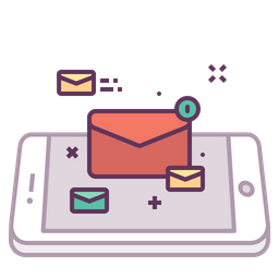Mobile, Concept, Email, Mail, Letter, Message, Text Icon