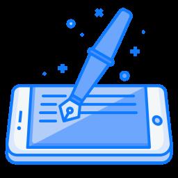 Mobile, Concept, Ink, Pen, Fountain, Artical, Blog, Write Icon