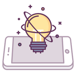 Mobile, Concept, Innovation, Idea, Think, Startup, Light, Innovate Icon