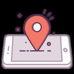 Mobile, Concept, Location, Pin, Mark, Navigation Icon