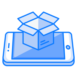 Mobile, Concept, Package, Open, Box, Logistic, Smartphone Icon