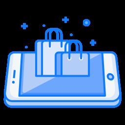 Mobile, Concept, Shop, Store, Online, Shopping, Carrybag, Bag Icon