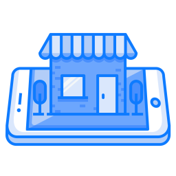 Mobile, Concept, Shop, Tree, Shopping, Store Icon