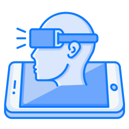 Mobile, Concept, Vr, Man, Sideview, Oculus, Virtual, Reality Icon