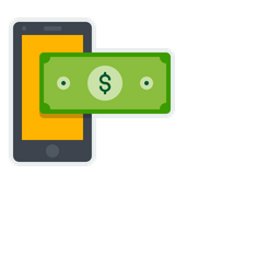 Mobile, Online, Payment, Currency, Dollar, Sign, Method Icon