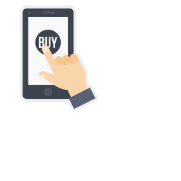 Mobile, Online, Store, Shop, Shopping, Buy, Sell, Product, Hand, Gesture Icon