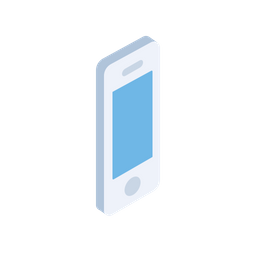 Mobile, Phone, Device, Smartphone, Isometric, 3d, View Icon