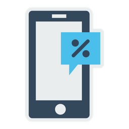 Mobile, Profit, Discount, Offer, Sale, Finance, Ecommerce, Device Icon
