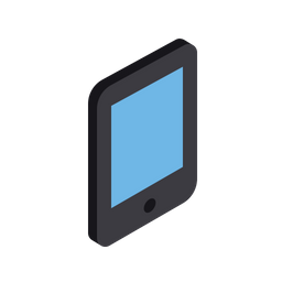 Mobile, Smartphone, Tablet, Device, Isometric, Grid, 3d Icon