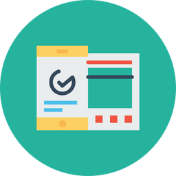 Mobile, Window, Statics, Analysis, Data, Sync, Graph, Chart Icon
