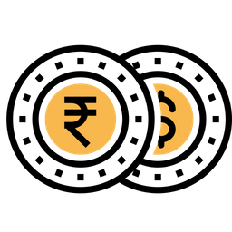 Money, Currency, Coin, Finance, Indian, Rupee, Dollar Icon