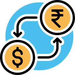 Money, Exchange, Currency, Conversion, Indian, Rupee, Dollar Icon