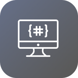 Monitor, Display, Device, Code, Coding, Development, Language Icon