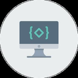 Monitor, Display, Device, Code, Coding, Development, Language Icon