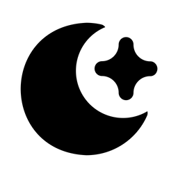 Moon And Star Glyph Icon