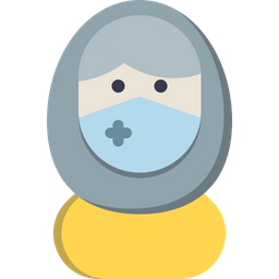 Muslim Girl With Mask Icon