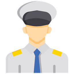 Navy captain Flat Icon