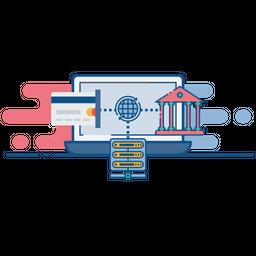 Net, Internet, Web, Banking, Ebanking, Secure, Database Icon