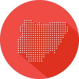 Nigeria, African, Country, Map, Location, Nation Icon