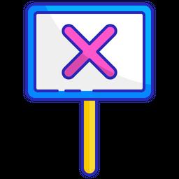 No signboard Icon