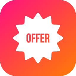 Offer, Sale, Discount, Coupon, Voucher Icon