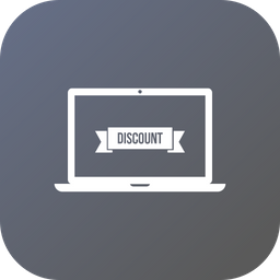 Offer, Sale, Discount, Laptop Icon