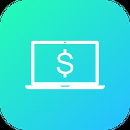 Offer, Sale, Discount, Laptop, Dollar, Money Icon
