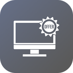Offer, Sale, Discount, Lcd, Monitor, Desktop Icon