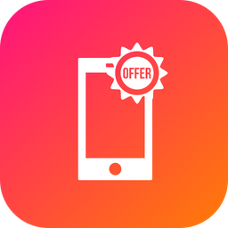 Offer, Sale, Discount, Smartphone, Mobilephone Icon