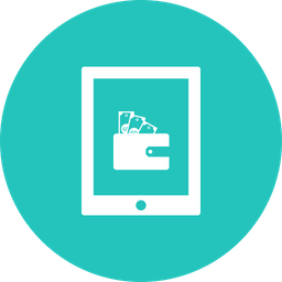 Offer, Sale, Discount, Tablet, Tab, Money, Cash, Wallet Icon