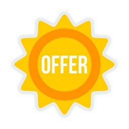 Offer, Sale, Shop, Shopping, Label, Sticker, Coupon Icon