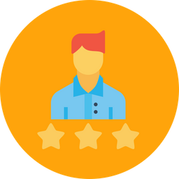 Office, Business, Employee, Rating, Three, Star, Best Icon