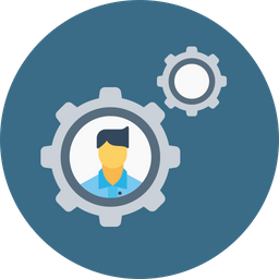 Office, Business, Man, Employee, Gear, Setting, Config, Configuration Icon