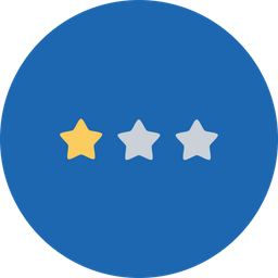 Office, Business, Rank, Achievement, One, Star, Stars Icon