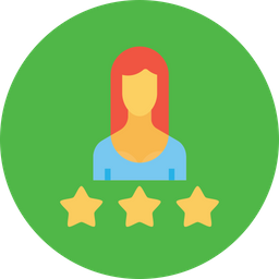 Office, Business, Woman, Employee, Rating, Three, Star, Best Icon