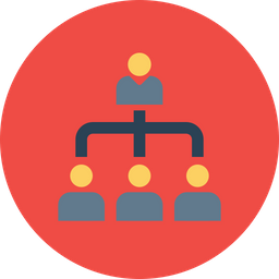 Office, Company, Corporate, Culture, Hierarchy, Leader, Structure Icon