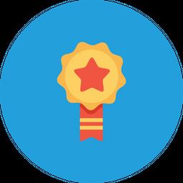 Office, Employee, Award, Label, Ribbon, Bedge, Achievement, Milestone Icon