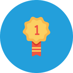 Office, Employee, Bedge, Label, Tag, Award, Number, One, First, Position Icon